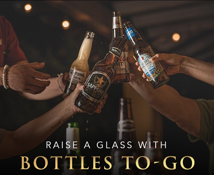 RAISE A GLASS WITH BOTTLES TO-GO